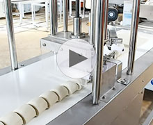 全自动数控刀切方馒头机操作流程视频